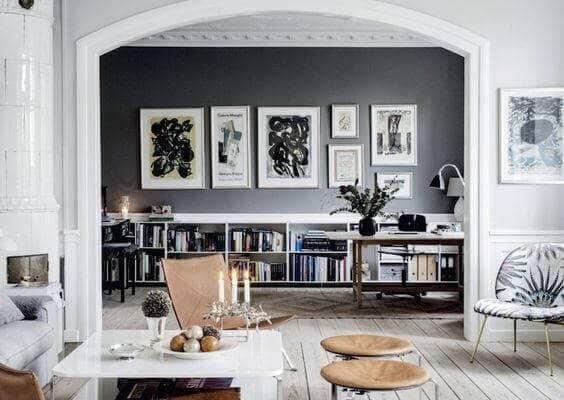 Quelle couleur du rideau pour un salon gris-blanc?